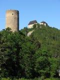 Castillo de Zebrak y castillo de Tocnik imagen de archivo