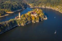 Castillo de Zvikov en el sur de Bohemia en Rep?blica Checa imagen de archivo