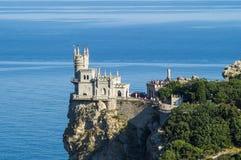Castillo decorativo de la jerarquía del trago en Crimea Foto de archivo