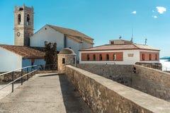 Castillo del Папа луна Peniscola, Испания стоковые фотографии rf