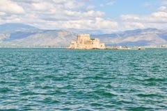 Castillo del agua de Bourtzi, Grecia Foto de archivo
