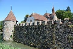 Castillo del agua de Hallwyl Imagenes de archivo