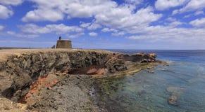 Castillo Del Aguila w Lanzarote Fotografia Royalty Free