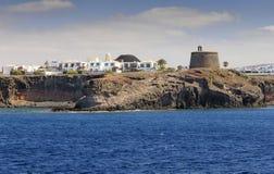 Castillo Del Aguila w Lanzarote Obraz Stock