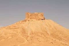 Castillo del al-Maani del Fakhr-al-Dinar Ruinas de la ciudad antigua del Palmyra imagen de archivo libre de regalías