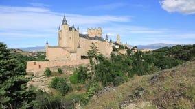Castillo del Alcazar en Segovia, España metrajes