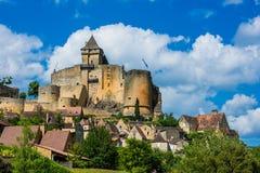 Castillo del chapelle Francia del la del castelnaud Foto de archivo