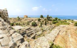 Castillo del cruzado, Byblos, Líbano Imágenes de archivo libres de regalías