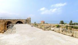 Castillo del cruzado, Byblos, Líbano Foto de archivo libre de regalías