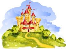 Castillo del cuento ilustración del vector