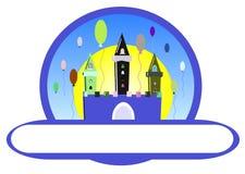 Castillo del cumpleaños stock de ilustración