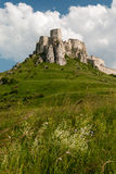 Castillo del ¡de SpiÅ - ské Podhradie del ¡de SpiÅ Foto de archivo