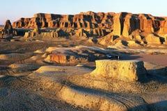 Castillo del fantasma de Urho durante puesta del sol Imagen de archivo libre de regalías