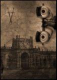 castillo del fantasma del ojo del asesinato stock de ilustración