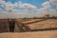 castillo del fyr morro Den gammala fästningen cuba havana Royaltyfri Foto