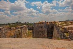 castillo del fyr morro Den gammala fästningen cuba havana Royaltyfri Bild