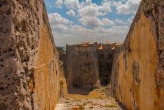 castillo del fyr morro Den gammala fästningen cuba havana Arkivfoton