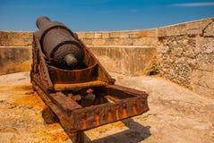 castillo del fyr morro Den gammala fästningen cuba havana Royaltyfria Bilder
