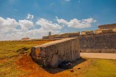 castillo del fyr morro Den gammala fästningen cuba havana Arkivbilder