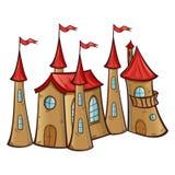 castillo del Hada-cuento ilustración del vector