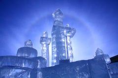 Castillo del hielo Fotos de archivo libres de regalías