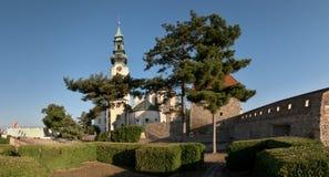 Castillo del hrad de Nitransky Imagen de archivo libre de regalías