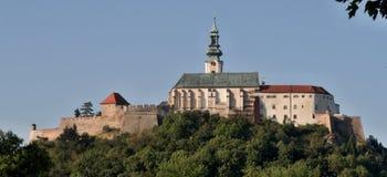 Castillo del hrad de Nitransky en Eslovaquia Fotografía de archivo