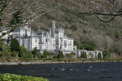 Castillo del irlandés de la orilla del lago Foto de archivo libre de regalías