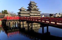 Castillo del japonés de Matsumoto Fotografía de archivo