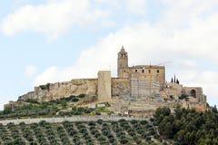 Castillo del la de Alcala verdadero imagen de archivo libre de regalías