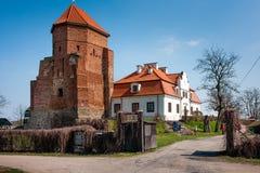 Castillo del ladrillo en la ciudad de Liw, Polonia Imagen de archivo