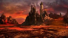 Castillo del mago malvado Fotos de archivo libres de regalías