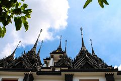 Castillo del metal en Bangkok Tailandia Fotografía de archivo