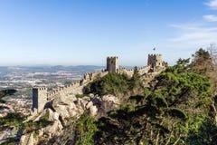 Castillo del Moorish Fotos de archivo libres de regalías