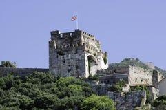 Castillo del Moorish de Gibraltar Imagenes de archivo