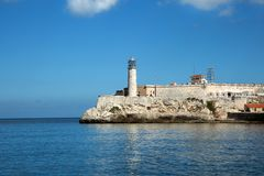 Castillo Del Morro φάρος στην Κούβα στοκ εικόνα με δικαίωμα ελεύθερης χρήσης