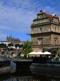 Castillo del museo y de Praga de Smetana (Hradcany) Imagen de archivo