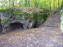 Castillo del ov del ½ del ¿de Valeï y su pueblo de piedra en paraíso bohemio Foto de archivo
