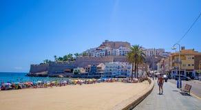 Castillo-del Papa Luna Peniscola, Spanien Lizenzfreie Stockfotografie