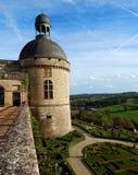 Castillo del renacimiento de Hautefort Imagen de archivo libre de regalías