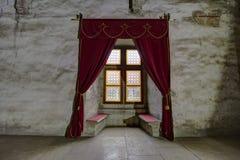 Castillo del ` s Hunyadi de Corvin en Hunedoara, Rumania imagenes de archivo