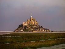 Castillo del Saint-Michel de Mont Imagenes de archivo