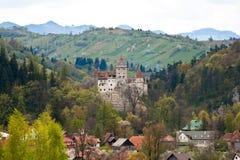Castillo del salvado de Dracula de Rumania Imagenes de archivo