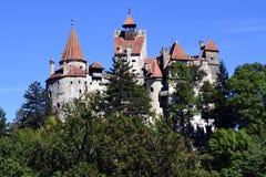 Castillo del salvado de Dracula - señal de Transilvania Imagenes de archivo