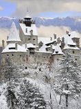 Castillo del salvado de Dracula, Transilvania, Rumania Fotografía de archivo