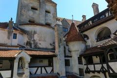Castillo del salvado - detalles del castillo de Drácula s Imagen de archivo libre de regalías