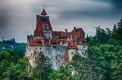 Castillo del salvado, imagen de HDR, señal en Rumania Fotografía de archivo libre de regalías