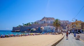 Castillo Del Tata Luna Peniscola, Hiszpania Fotografia Royalty Free