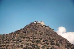 Castillo del templo de Stravovanie en la montaña Imagen de archivo libre de regalías