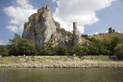 Castillo Devin Bratislava Slovakia Fotografía de archivo